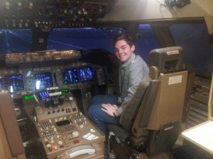 Me in a 747 cockpit